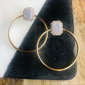BaubleBar // Lutana Hoop Earrings